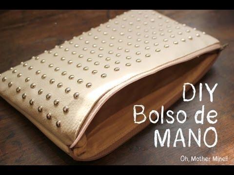 Como hacer bolso de mano con tachuelas o tachas DIY