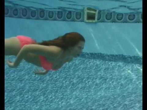 Underwater bikini swimming