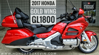 7. 2017 Honda Gold Wing Walk-Around Video | Candy Red GL1800 Touring Motorcycle