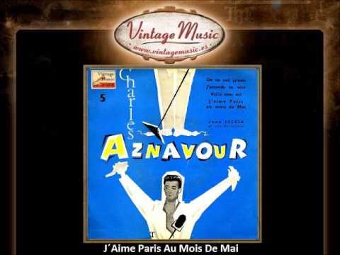 Tekst piosenki Charles Aznavour - J'aime Paris Au Mois De Mai po polsku