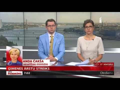 """Veselības ministre Anda Čakša sniedz interviju LTV raidījumā """"Rīta Panorāma"""""""