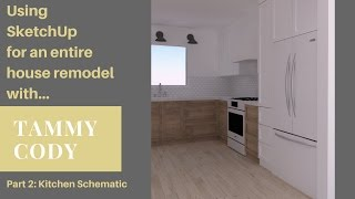 Entire House Remodel Part 2: Kitchen Design Using SketchUp