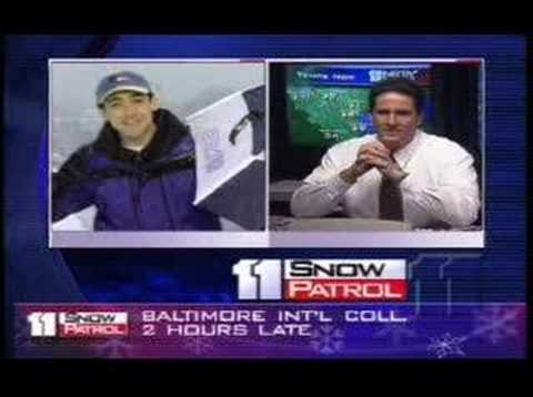 Justin Berk - In 2000 while working at WBAL Justin Berk showed large flakes and explained how it may turn to sleet. Then it did, Live on TV while talking with Tony Pann.