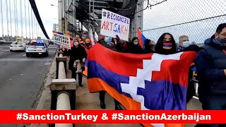 GW Bridge: March for Truth. NY/NJ  in support of Artsakh and Armenia.