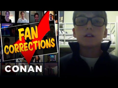 Fan Corrections: There's No Such Thing As A Fork Tailed Badger!  – CONAN on TBS