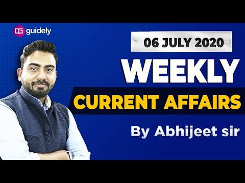 Weekly Current Affairs Revision 2020 | GA by Abhijeet Sir | Guidely