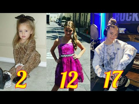 Lizzy Greene from 1 to 17 years