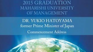 Dr. Yukio Hatoyama MUM Commencement 2015 HD