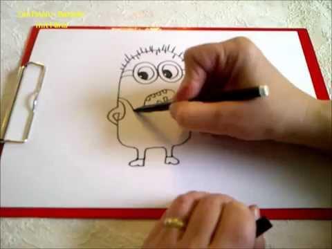 Zeichnen lernen für Anfänger. Minions zeichnen.