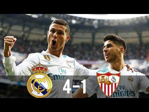 Real Madrid vs Sevilla 4 1  All Goals u0026 Extended Highlights La Liga
