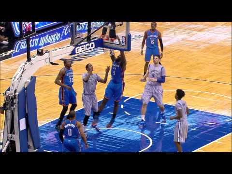 Video: Russell Westbrook Makes Magical Mid-Air Assist to Ibaka