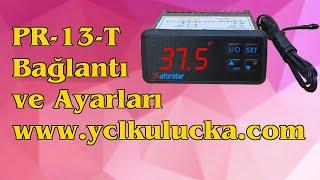 Eforstar Pr-13-t pid kontrollü termostat bağlantı ve ayarla...