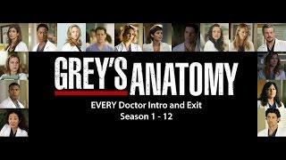 Video EVERY (former) Doctor intro and exit /Grey's Anatomy (Seasons 1-12) MP3, 3GP, MP4, WEBM, AVI, FLV Oktober 2018