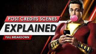 Shazam: Both Post Credits Scenes Explained And What They Mean For The Future Of The DCEU
