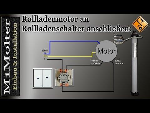 Schalter an Rollladenmotor anschließen von M1Molter