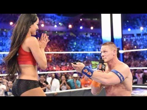 John Cena Surprises Longtime Girlfriend Nikki Bella With Wrestling Ring Proposal