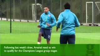 Arsenal prepare for their clash with Turkish side Besiktas at the Emirates Stadium. Last week's draw in Turkey has raised the stakes for Arsenal, who need a win to reach the group stages of the Champions League. The Gunners will be playing without striker Olivier Giroud due to injury and midfielder Aaron Ramsey due to suspension