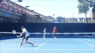Roger Federer 2017 Australian open practice time