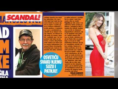 SKANDAL NOVINE: Otac Rade Manojlović – plačem nad sudbinom moje ćerke, Boba otkrio tajne prvog i drugog braka, Prijovićkina majka očajna – plašim se da neću dočekati prvo unuče