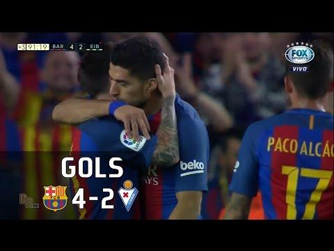 Gols - Barcelona 4 x 2 Eibar - La Liga 16-17