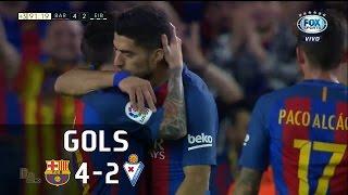 Gols - Barcelona 4 x 2 Eibar - 38ª Rodada La Liga 2016-2017 - 21/05/2017Narração: Gustavo Villani, Comentários: PVCEstádio: Camp Nou