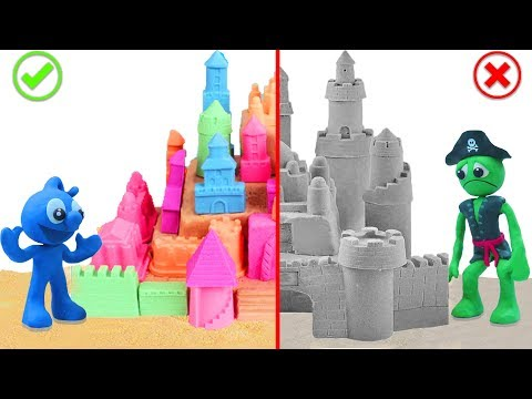 TINY BUILDS SAND CASTLE 💖 Stop Motion Animation Cartoons
