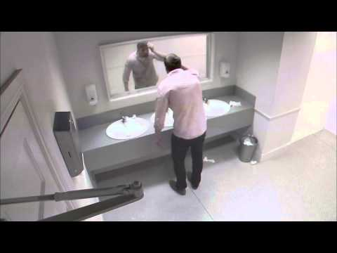 Viral Highlights: Dead body smashes through bathroom mirror in shocking new ad campaign! video