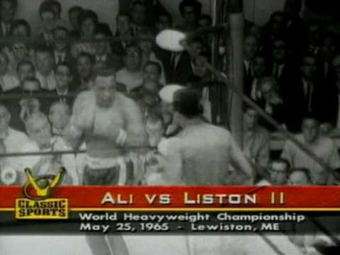Muhammad Ali knocks out Sonny Liston