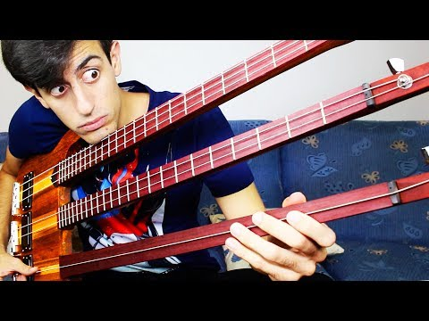 Musician Performs an Impressive Continuous Solo on a Really Odd Triple Neck 6String