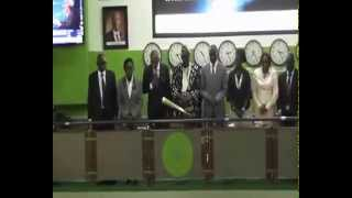 Courteville Business Solutions PLC ringing the closing bell on the Nigerian Stock Exchange 2015
