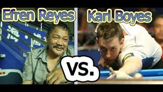 - Efren Reyes -  Vs. - Karl Boyes - The 2014 World 9-Ball Championship