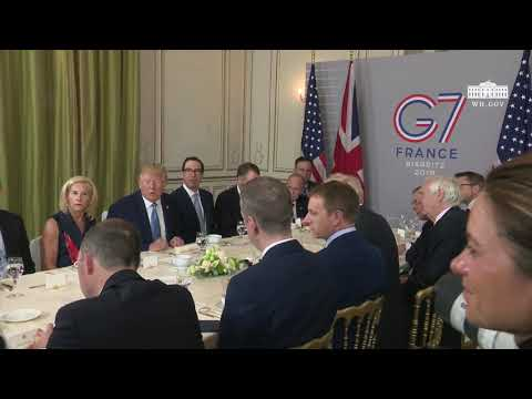 President Trump Participates in a Working Breakfast