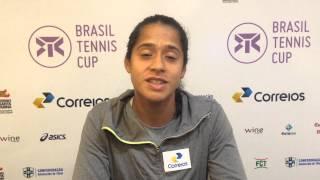 Teliana Pereira convoca torcida no Brasil Tennis Cup
