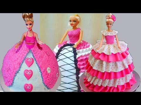 Barbie Cake Design | Easy Birthday Cake Decorations  | cake design compalision
