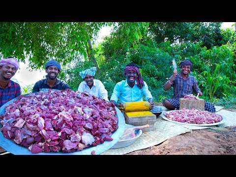 MUTTON DRY FRY | Varattu Kari | Chettinad Fried Mutton Recipe | Traditional Cooking In Village
