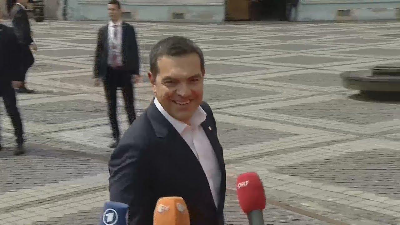 Αφιξη του Α.Τσίπρα στην Σύνοδο Κορυφής της ΕΕ