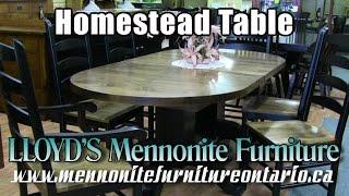 Mennonite Homestead Table