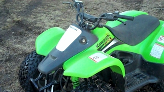 7. Kawasaki KFX 50 CC Cold Start After 4 Months