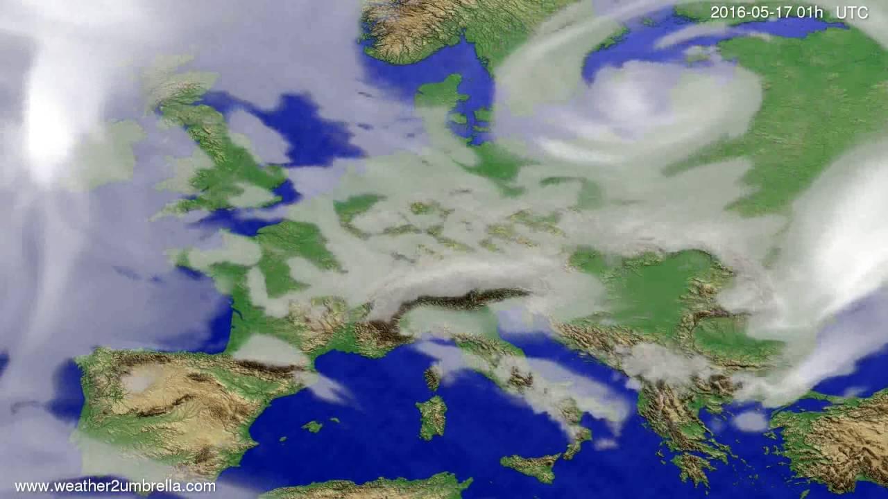 Cloud forecast Europe 2016-05-14