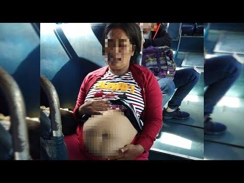 Cảnh giác: Bụng mỡ giả mang bầu để xin tiền trên xe buýt  @ vcloz.com
