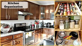 In this video I discuss and show you how I organized my kitchen. Will also share some tips and trips how to organize and arrange your kitchen.===================================================For more video recipes on YoutubeVisit my Channel:https://www.youtube.com/user/sruthiskitchenand Click here to subscribe: www.youtube.com/subscription_center?add_user=sruthiskitchen===================================================For Kitchen OrganizationBamboo Baskets: http://amzn.to/2kRfNBlLid Organizer: http://amzn.to/2l2oYB1Expandable Cabinet Shelf: http://amzn.to/2lt6BGASpice Liners: http://amzn.to/2kerKPmBall Jars: http://amzn.to/2l2GODTOxo Plastic Storage Containers: http://amzn.to/2kYk2O1Cabinet Liners: http://amzn.to/2kevbFNRice and Atta Storage Canisters: http://bit.ly/2kv3mtVWooden Cutlery Drawer: http://amzn.to/2kesOTtCutlery Organizer:http://amzn.to/2kRhA9rHightlited ToolsMost Used Tools:Wet Grinder: http://amzn.to/2lLxGVbEndGrain Cutting Board: http://amzn.to/2lxYMvaKnives: http://amzn.to/2keduqcAll Clad Frying Pan 12 inch with lid: http://amzn.to/2l2Jsd0All Clad Fry Pan 10 inch: http://amzn.to/2kYsxIHAll Clad Fry Pan 8 inch: http://amzn.to/2kelh7iAll Clad 1.5 quart sauce pan: http://amzn.to/2lzXZdLAll Clad 3.5 quart Sauce Pan: http://amzn.to/2kRtPmgRachel Ray Non Stick Pan Set:http://amzn.to/2kRy9ChTool Set: http://amzn.to/2kRwmghAll Clad 2 Quart Saute Pan: http://amzn.to/2kRFIJ1Cuisinart Fry Pan: http://amzn.to/2l2AKeLCuisinart 1.5 quart sauce pan: http://amzn.to/2kRA6PcAll Clad .25 quart sauce pan for Tadka/ Tempering: http://amzn.to/2kYjSWUCuisinart Mixing bowls: http://amzn.to/2l2F1iqGlass mixing bowls:http://amzn.to/2lzWkF0Joseph Joseph Utensil Tool set: http://amzn.to/2j8PYLkKitchenaid Kitchen Tool Set: http://amzn.to/2l2yh3XKitchen Strainer: http://amzn.to/2l2vEPGKitchenaid Hand Mixer: http://amzn.to/2l2E3CLBaking Pans Set: http://amzn.to/2lzNlUBNutriBullet(for chutneys, milkshake, smoothie, tomato puree) - http://amzn.to/2l2sjzUSecura Blender(spice grinder) -http://amzn.to/2lzXws7Breville Boss Blender (for green smoothie) - http://amzn.to/2lAcJJFLe Creset Cast Iron Balti Pan: http://amzn.to/2lzNcR2Silpat: http://amzn.to/2kREhdT----------------------------------------------------Join me on Facebook:http://www.facebook.com/shruthiskitchenTwitter: http://twitter.com/sruthiskitchenMusic: Hoedown by Audionautix is licensed under a Creative Commons Attribution license (https://creativecommons.org/licenses/by/4.0/)Artist: http://audionautix.com/Continue Life by Kevin MacLeod is licensed under a Creative Commons Attribution license (https://creativecommons.org/licenses/by/4.0/)Source: http://incompetech.com/music/royalty-free/?keywords=continue+lifeArtist: http://incompetech.com/