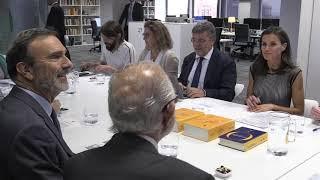 S.M. la Reina asiste a la reunión ordinaria de Fundéu BBVA