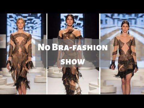 No Bra fashion show видео