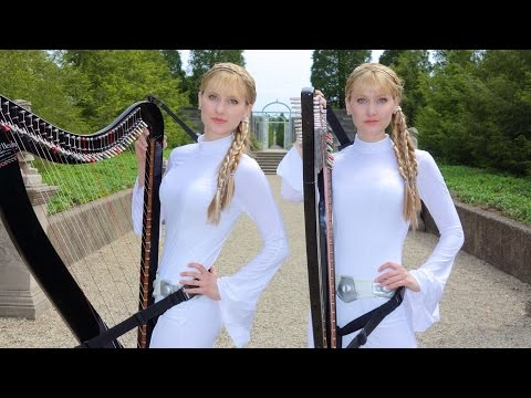 Star Wars Medley Harp Twins electric Camille and
