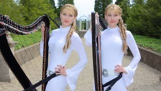 """The Harp Twins Dress Like Princess Leia And Cover The """"Star Wars"""" Medley Beautifully"""