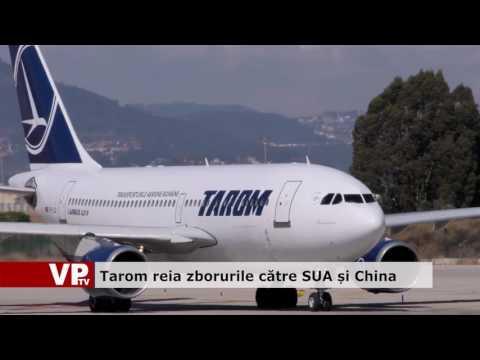 Tarom reia zborurile către SUA și China