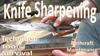 A Step-byStep demonstration on a few tools and methods for sharpening knives.  There are more than a few ways to sharpen a knife and it is often a hotly contested topic.  Take this instruction for what it is, personal advice and a method among many.  Be safe and take care.The Blue EDC is a diamond sharpener made by SE. This item can be found on Ebay by seller aplussurvival Here: http://www.ebay.com/itm/Diamond-Knife-Survival-Sharpener-Lightweight-Compact-/250809006700?If you have the ability and desire to support this channel please visit the link below:My Patreon: https://www.patreon.com/user?u=2838693Bitcoin Address: 1AtaFo7aZkdyNPh6oRGScppDUj7LXBEyFaJoin My Facebook Page for Updates: https://www.facebook.com/Outbackerish-1658414024370484/