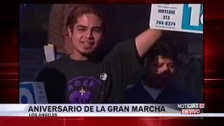 Aniversario de la gran marcha en Los Ángeles – Noticias 62 - Thumbnail