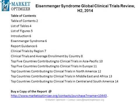 2014 Eisenmenger Syndrome Global Clinical Trials Market H2 Analysis & Forecast