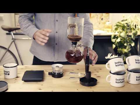 Kaffeezubereitung mit dem Hario Syphon